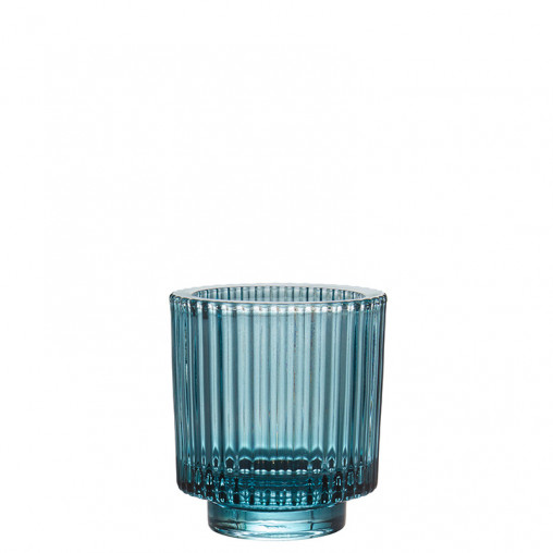 Glas blau h 8,5 cm
