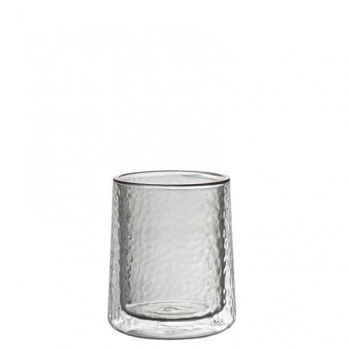 Glas doppelwandig rauch 10,5 cm