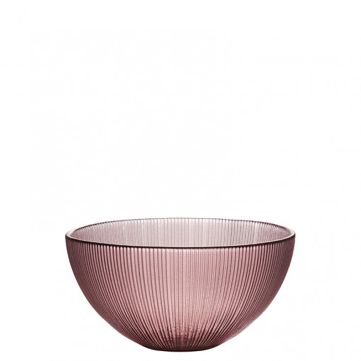 Glas Schale rose h 7,5 cm