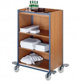 Zimmermädchenwagen taubenblau/Buche, groß Standard