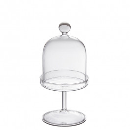 Cloche Glas auf Fuss h 21 cm