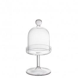 Cloche Glas auf Fuss h 17 cm