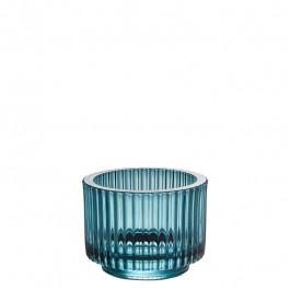 Glas blau h 7 cm