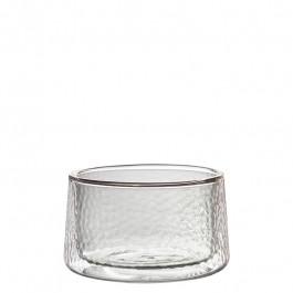 Glas doppelwandig rauch 7 cm