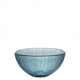 Glas Schale blaugrün h 7,5 cm