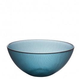 Glas Schale blaugrün h 10,5 cm