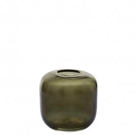 Glasvase mossgrün h 15 cm