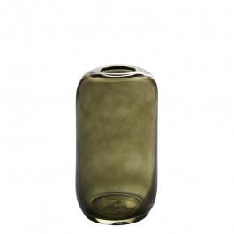Glasvase mossgrün h 25,5 cm