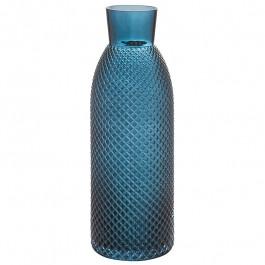 Glasvase dunkelblau h 40,5 cm