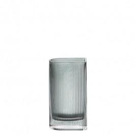 Glasvase graugrün h 20 cm