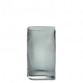Glasvase graugrün h 30 cm