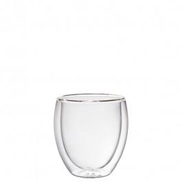 Glasbecher doppelwandig Ø7,5x9,5 cm