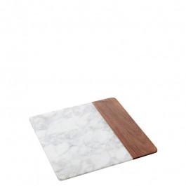 Platte Marmor/Holz quadratisch 25,4x25,4x1,5 cm