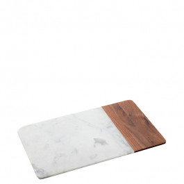 Platte Marmor/Holz rechteckig 30,5x18,4x1,5 cm