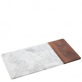 Platte Marmor/Holz rechteckig 38,1x20x1,5 cm