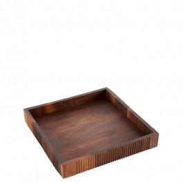 Tablett Holz (Walnuss) quadratisch 25x25x4 cm