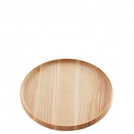 Tablett Holz (Esche) rund 24 cm