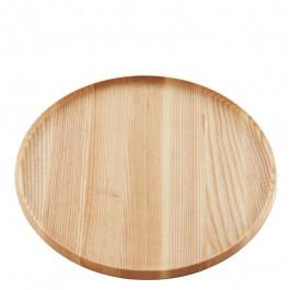 Tablett Holz (Esche) rund 33 cm