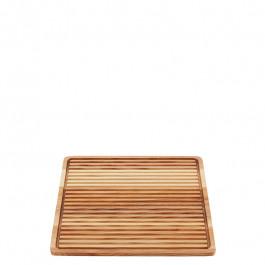 Brotschneidebrett Holz (Esche) quadratisch 25x25 cm
