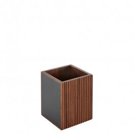 Besteckbox Holz (Walnuss) 11x11x13 cm