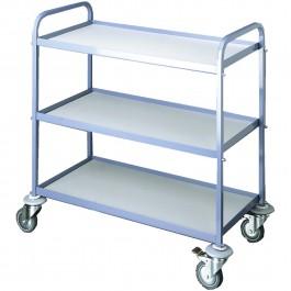 Serving trolley blue / beech Standard